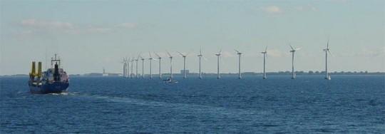 덴마크 Middelgrunden 해상 풍력 발전 단지 출처: 위키피디아
