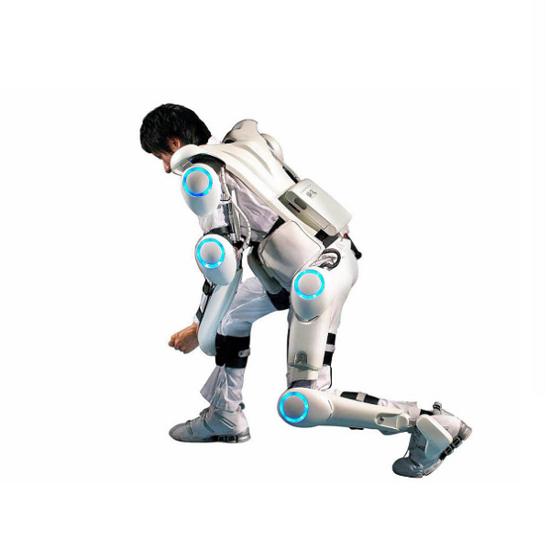 사이버다인사에서 개발한 터미... 아니 로봇 슈트 HAL. 멋진 디자인이 돋보인다.