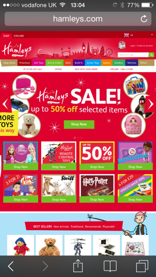 Hamleys_mobile_site