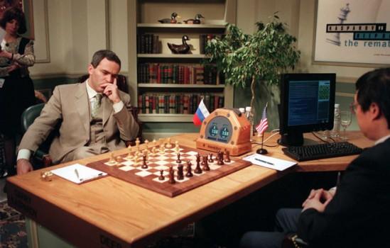 1997년 인공지능 딥 블루와 인간 체스 챔피언 게리 카스파로프의 대결 출처: WIRED