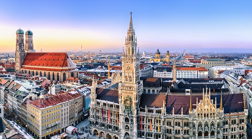 여기가 독일 뮌헨입니다.