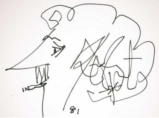 커트 보네거트의 자화상. 그는 삽화도 직접 그렸다.