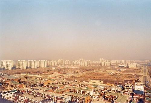 목동중심축 개발 전 오목교역 주변의 모습 출처: 양천구청 사이버홍보관