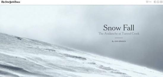 스노우폴은 2012년 12월 뉴욕타임스가 만든 실감형 인터랙티브(Immersive Interactive) 기사다.