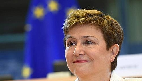 EU 집행위원회 부위원장인 크리스탈리나 게오르기에바의 모습.