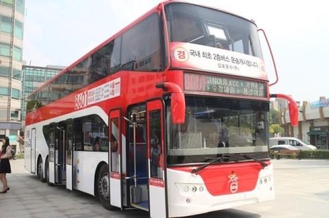 입석 타지 말라고 도입한 이층버스. 현재 수도권에 9대 돌아다닌다고 한다. 19대도 아니고 아홉 대. ⓒ 경기도 공식블로그