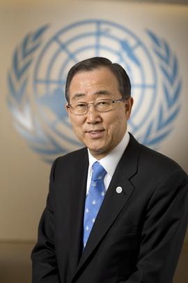제8대 UN 사무총장, 반기문의 모습.