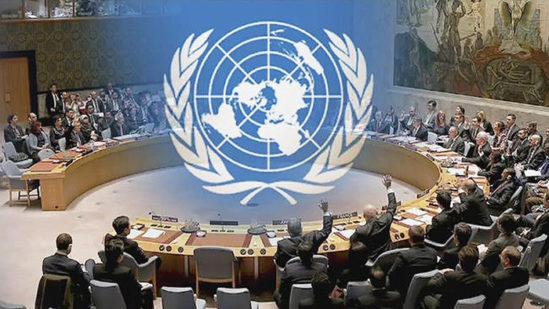 UN 안보리의 모습.