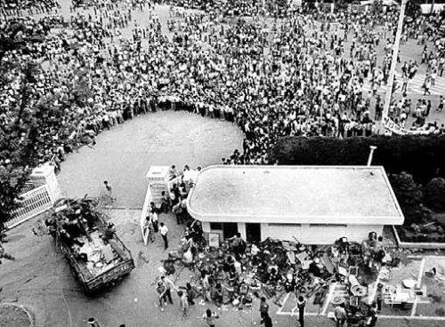 시민군이 장악한 도청 앞 광장. 사진: 황종건