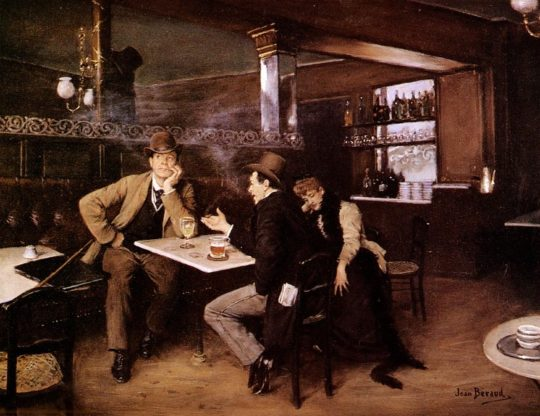 19세기 말 비스트로 식당의 모습