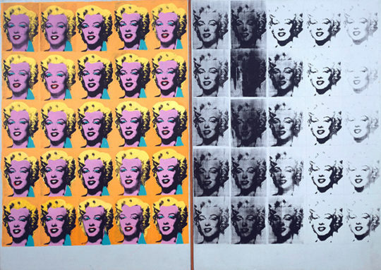 Andy Warhol, Marilyn Diptych, 1962, acrylic on canvas, 2054 x 1448 mm (Tate) © The Andy Warhol Foundation for the Visual Arts, Inc. 2015