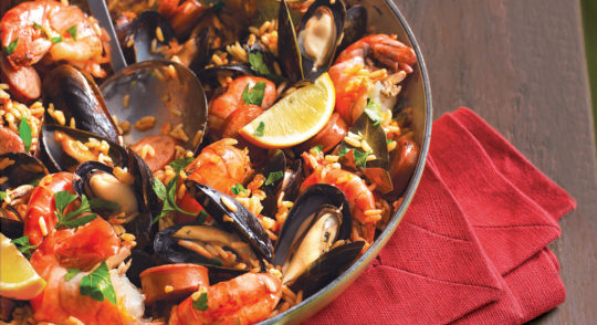 barbecued-spanish-rice-sausage-seafood