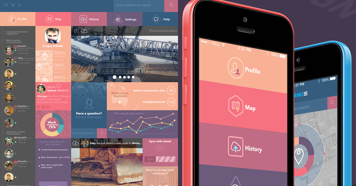 Sergey Valiukh 플랫 디자인의 웹과 모바일 적용