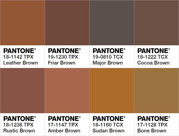팬톤 컬러로 보는 다양한 계열의 브라운