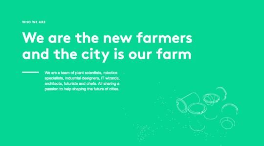 """""""우리는 새로운 농부들입니다. 그리고 도시가 우리의 농장입니다."""""""