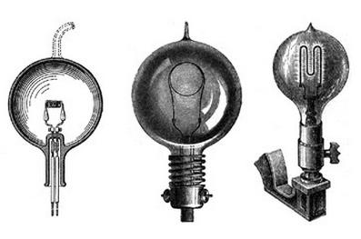 에디슨, 스완, 맥심이 각각 독립적으로 발명한 백열전구