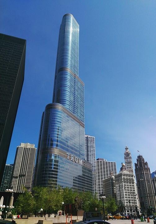시카고 트럼프 타워의 위용