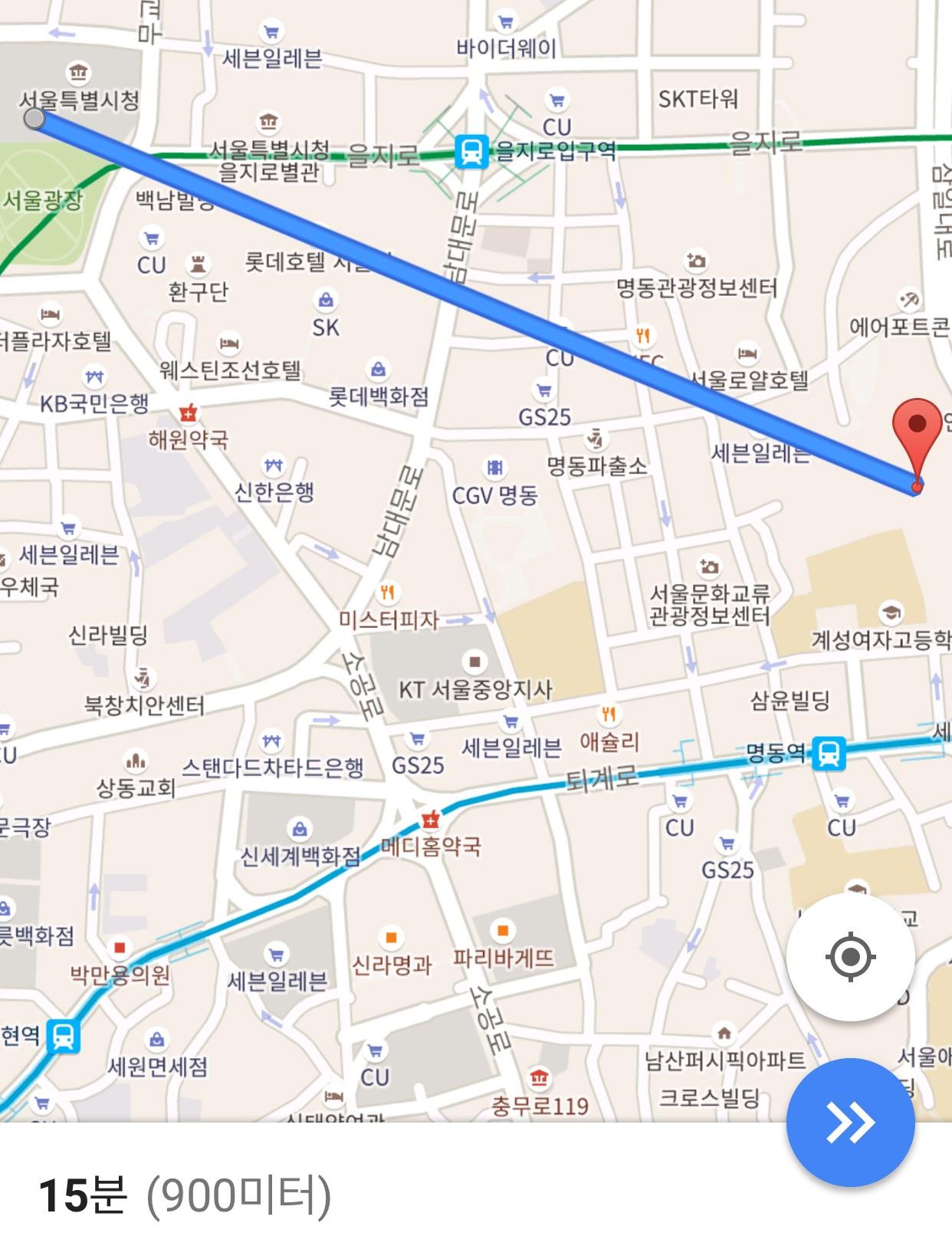 건물 벽을 뚫고 주파하면, 서울시청에서 명동성당까지 15분이면 간다