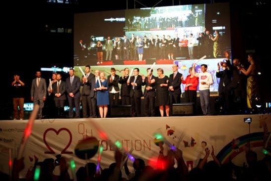 2015년 퀴어문화축제 개막식.