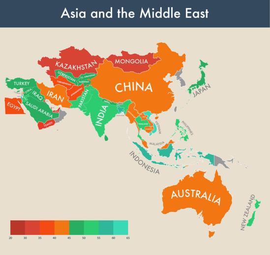 아시아 및 중동지역