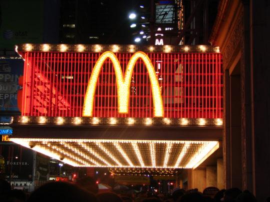 타임스퀘어의 맥도날드