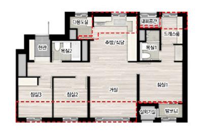 4베이 아파트와 베란다 확장