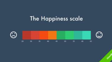 진정한 행복을 생각해보는 인포그래픽 지도
