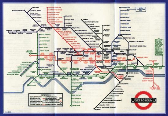 헤리 백(Harry Beck) | 런던 지하철 노선도