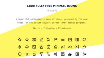 돋보이는 디자인을 위한 1800개의 미니멀 아이콘 세트