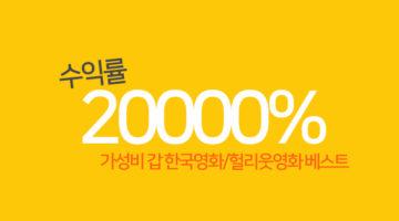 무려 2만% 수익률, 투자 대비 가성비 '갑' 영화 Top 10