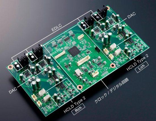 하이엔드 오디오의 DAC 보드. 여러 개의 DAC가 들어가 있다.