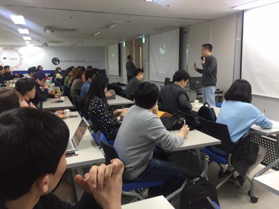 수강생이 직접 찍어 올린 어벤져스쿨 강연장의 모습. 출처: choikyunghee 님의 페이스북