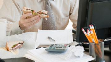 점심 먹는 시간이 부족하면 업무에 나쁜 영향을 줍니다