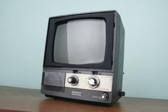 소니 흑백TV의 모습