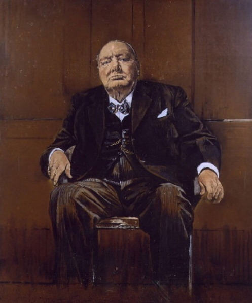 그래험 서덜랜드가 그린 윈스턴 처칠 초상화.