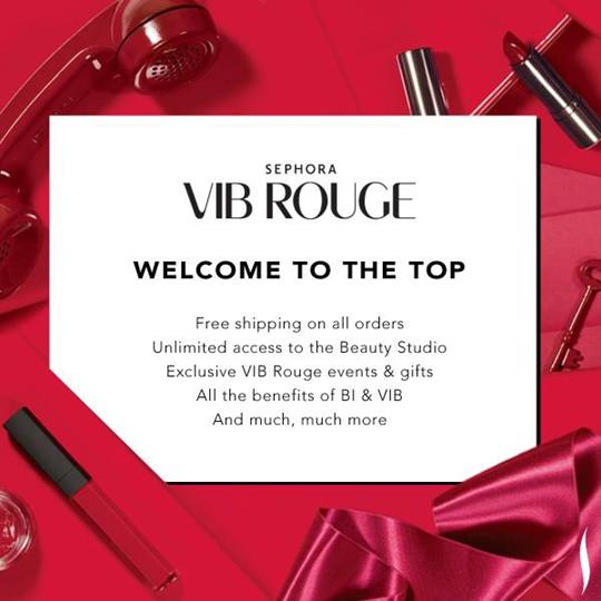 세포라 VIB(Very Important Beauty Insider) 로열티 프로그램. 단골 고객들에게 더 나은 쇼핑 경험을 제공하기 위해 끊임없이 노력하고 있다.