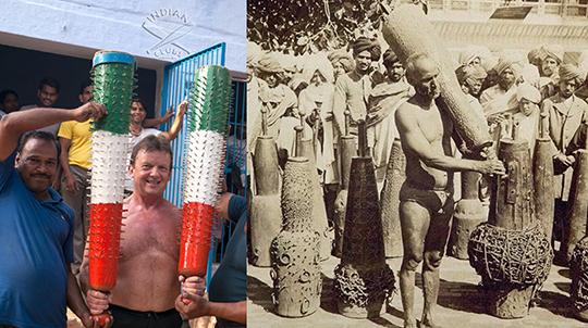 (좌) 인도여행 중에 만난 폴 선생님. (우) 다양한 커스텀 조리를 자랑하는 인도 역사(力士).