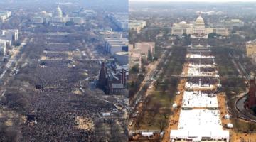 미국에서도 행사 참가인원 집계 논란이 일어났다