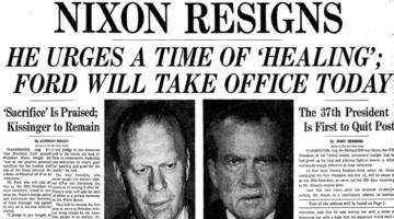 리처드 닉슨의 워터게이트 스캔들과 탄핵, 그리고 사임