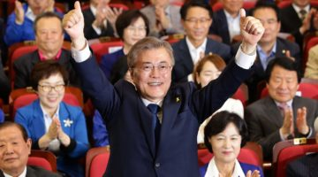 원만한 대북관계를 지지하는 문재인 후보가 대통령에 당선되었습니다