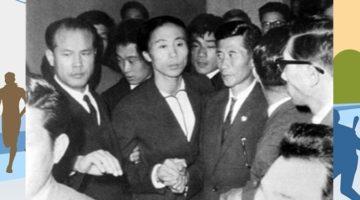 1964년, 북한 육상선수 신금단이 이산가족 아버지와 상봉하다