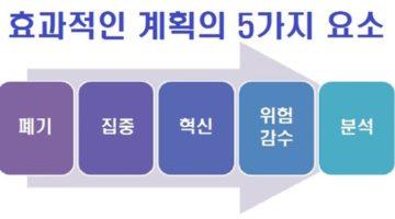 효과적인 계획의 5가지 요소