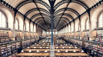 유럽의 아름다운 도서관을 촬영하는 사진작가