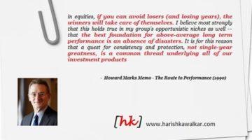 수익률로 가는 길: 하워드 막스 1990년 메모