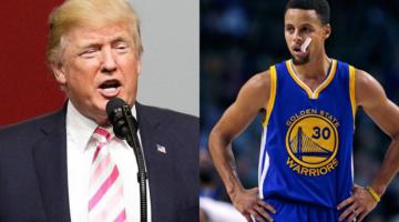 NBA 선수 스테판 커리에게 시비 건 트럼프 대통령