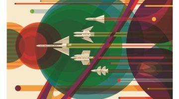 나사, 보이저 호 발사 40주년을 기념해 포스터를 배포하다