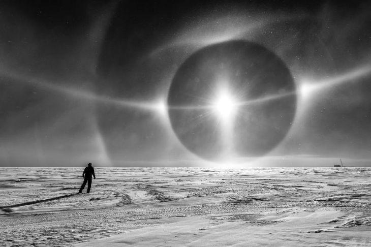 외계 행성을 보는 듯한 남극의 썬도그 현상
