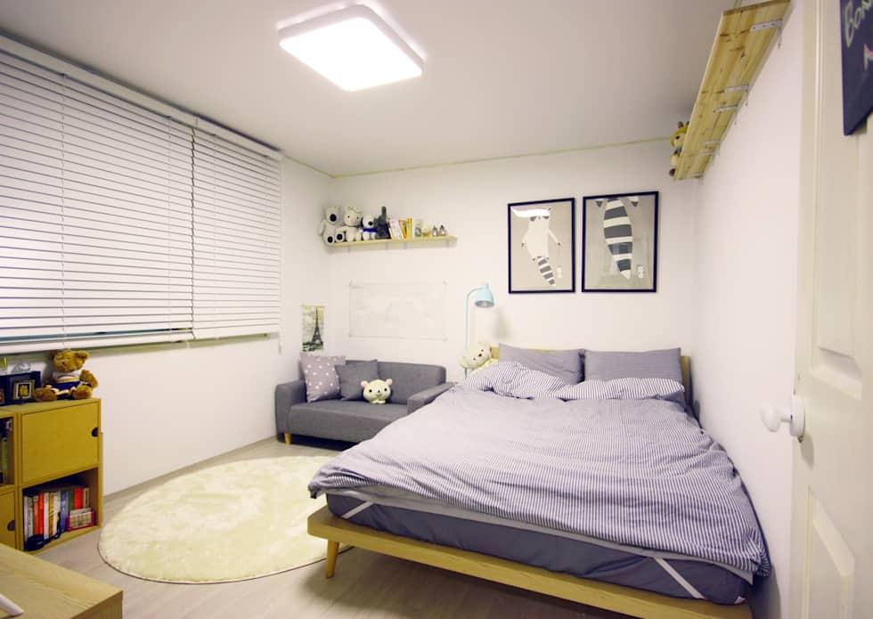 역삼동 투룸 싱글 홈스타일링 (Yeoksam homestyling): homelatte의 침실