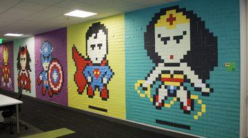 사무실 분위기를 바꾼 8,024장의 포스트잇 벽화