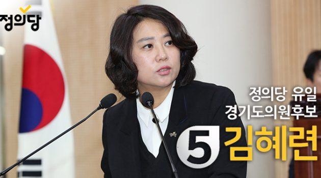 고양의 3선 시의원, 정의당 유일의 경기도의원에 도전하다 – 경기도의원 후보 김혜련 인터뷰